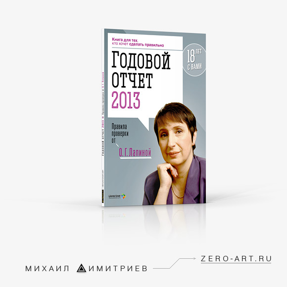 Graphic designer's portfolio: Trade publication Annual accounts 2013 book cover design